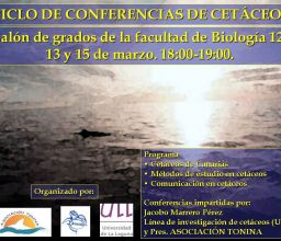 """""""I Ciclo de conferencias de Cetáceos"""""""